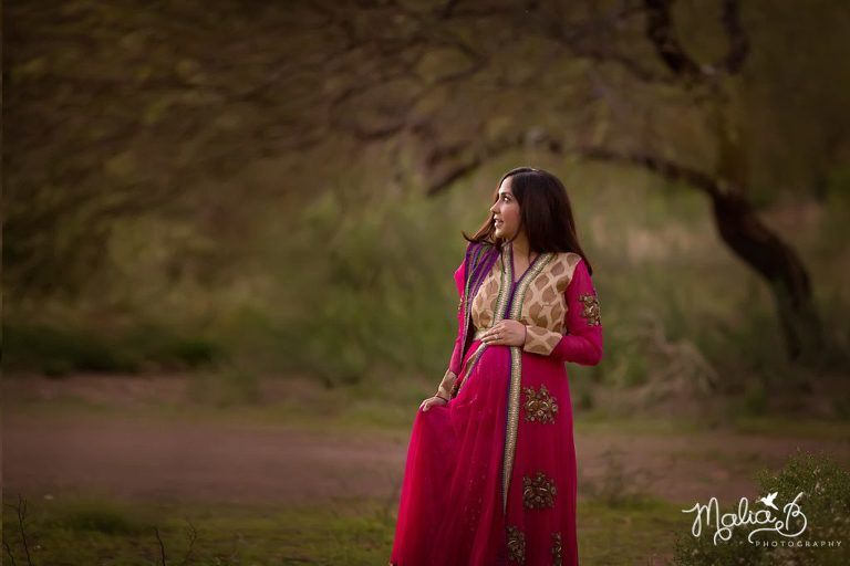 Traditional Indian Dress Maternity Session Peoria